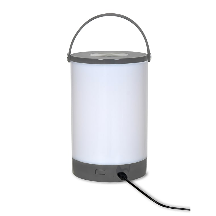 Cornbury Rechargeable LED Lantern in Grey  | Garden Trading