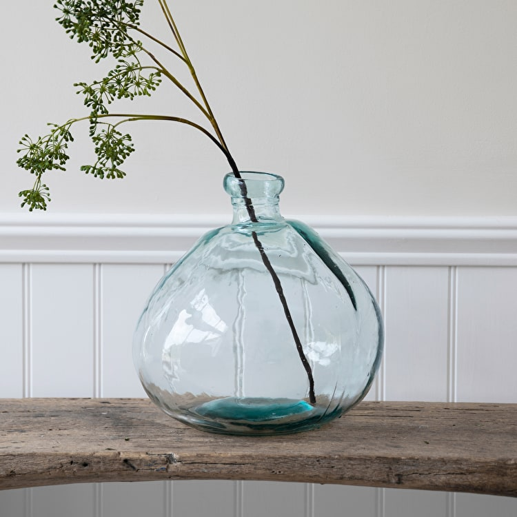 Recycled Glass Wells Bubble Vase In Wide Or Wide Xxl Garden Trading
