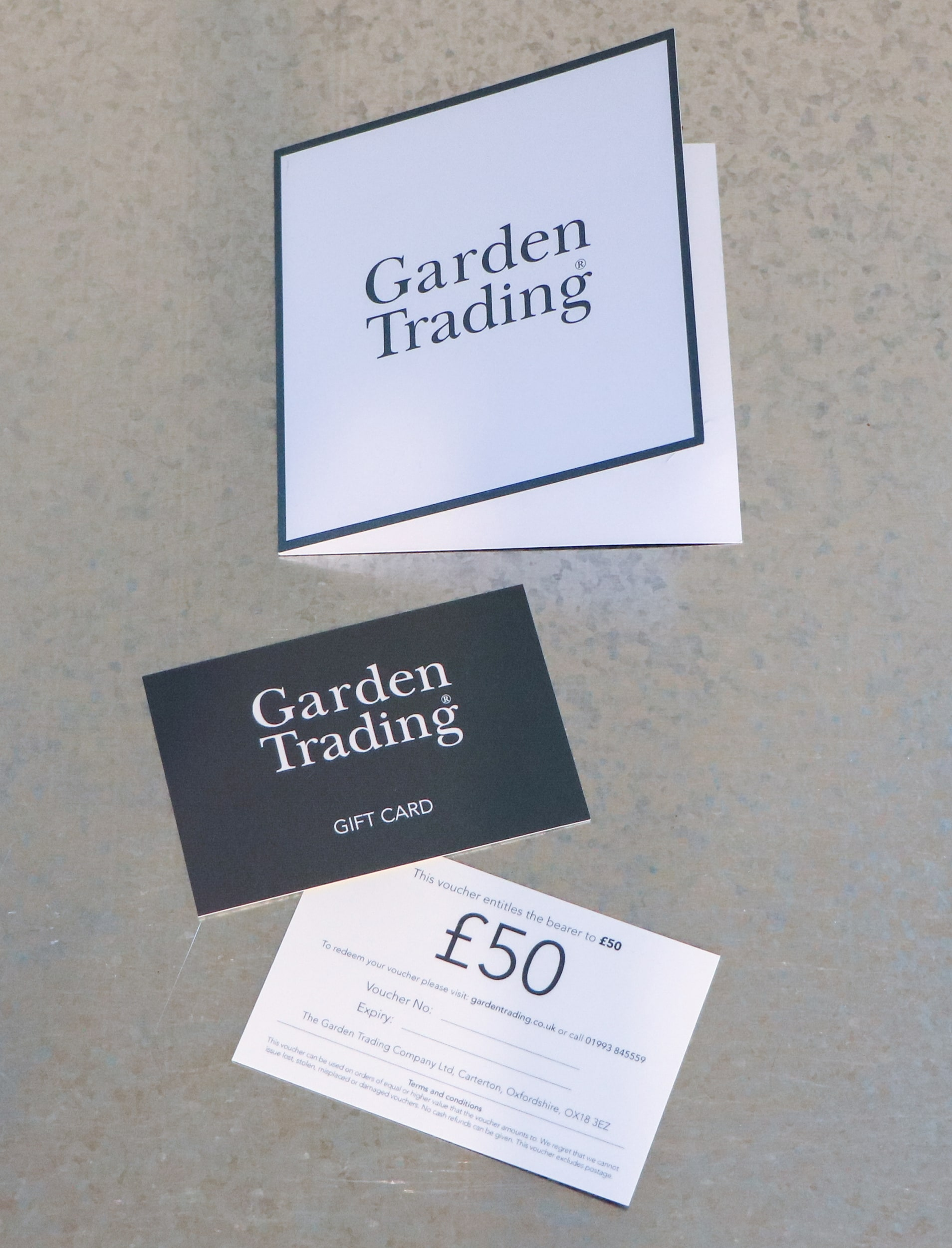 Gift Card or Voucher in £5, £10, £20, £25, £30, £40, £50 or £100   Garden Trading