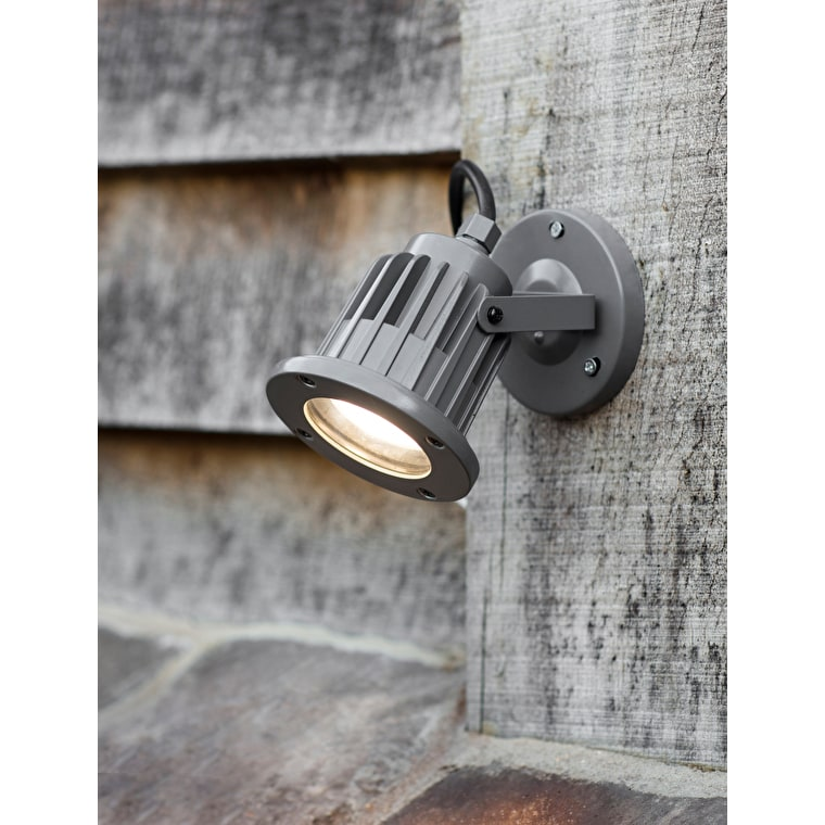 Steel Farlow Spotlight in Grey  | Garden Trading