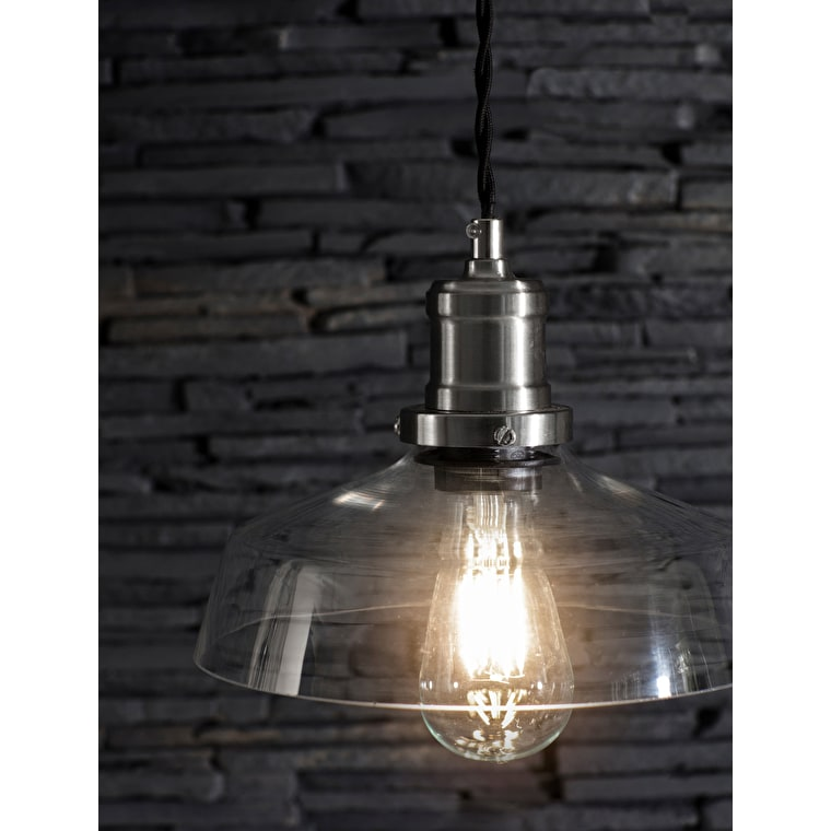 Hoxton Indoor Pendant Light in Silver | Garden Trading