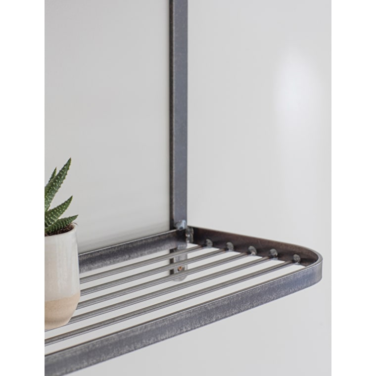 Metal Farringdon Double Wall Shelf | Garden Trading