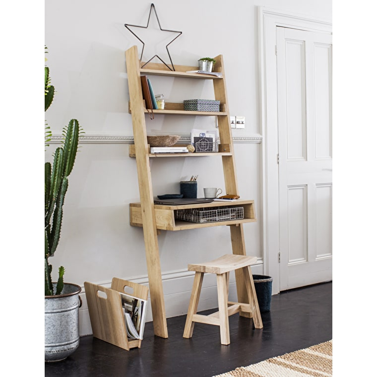 Raw Oak Hambledon Desk Ladder | Garden Trading