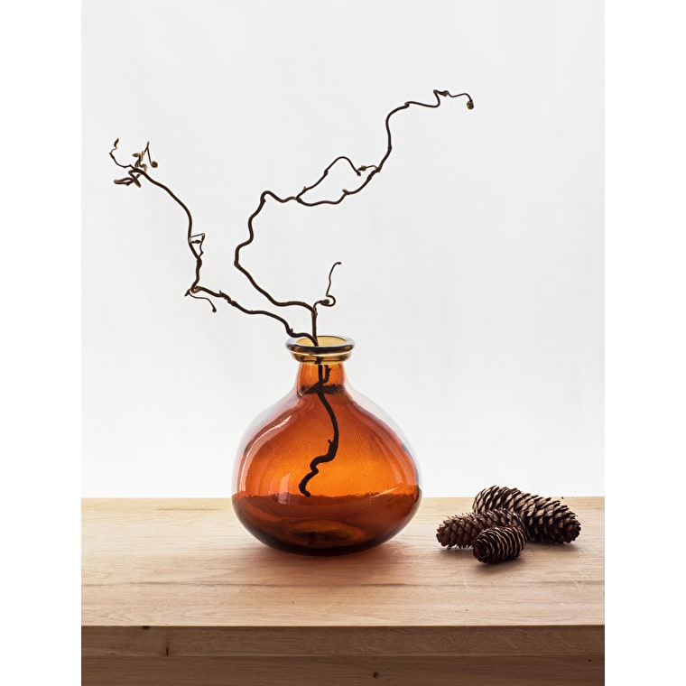 Recycled Glass Wells Bubble Vase in Brown  | Garden Trading