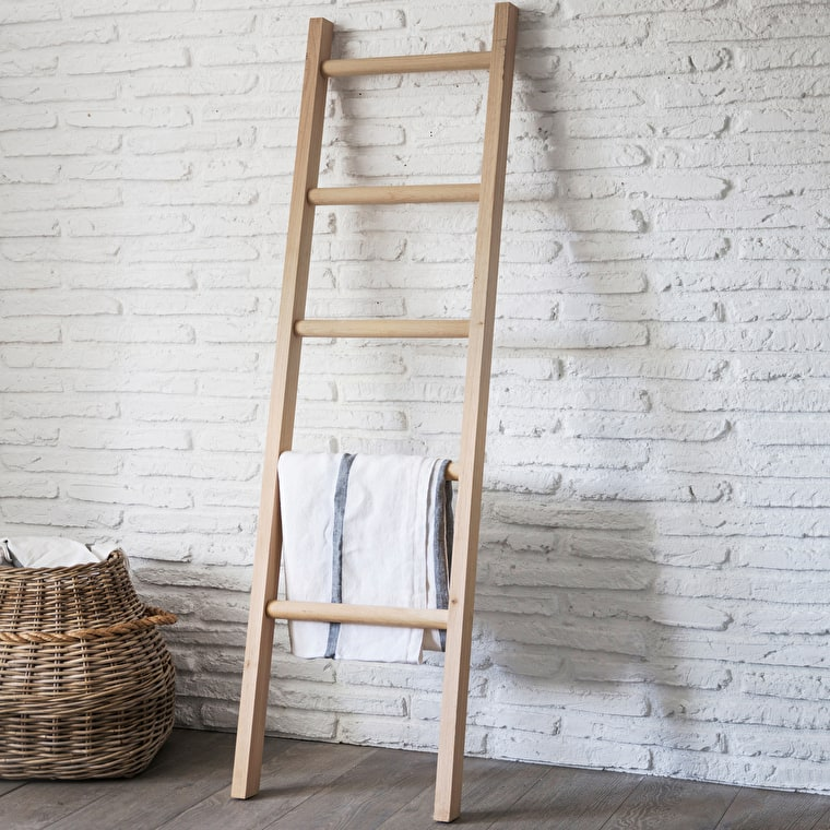 Raw Oak Hambledon Towel Ladder | Garden Trading