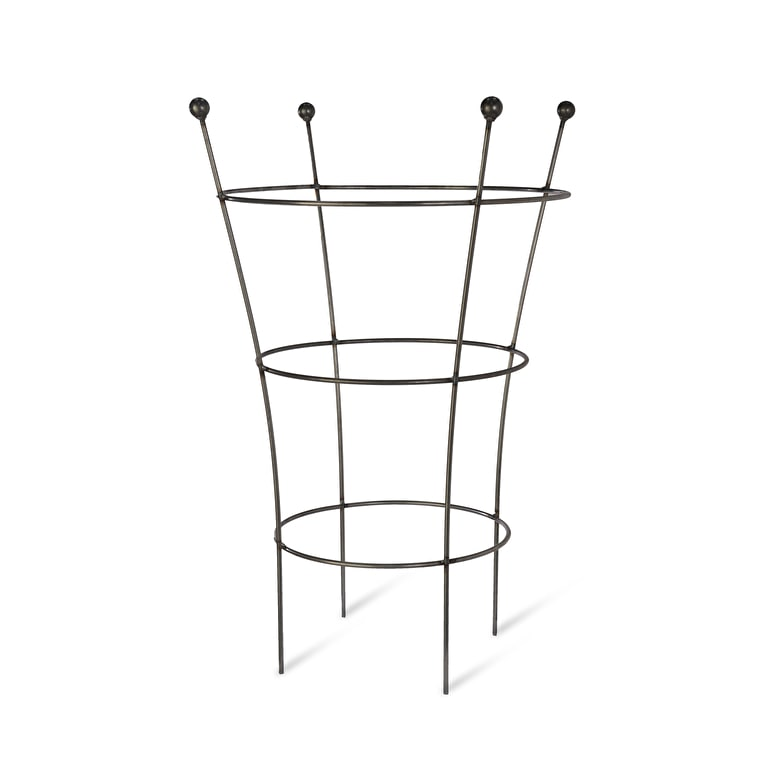 Raw Metal Flared Barrington Plant Support in Small or Large   Garden Trading