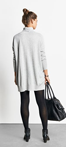 Cashmere Roll Neck Dress
