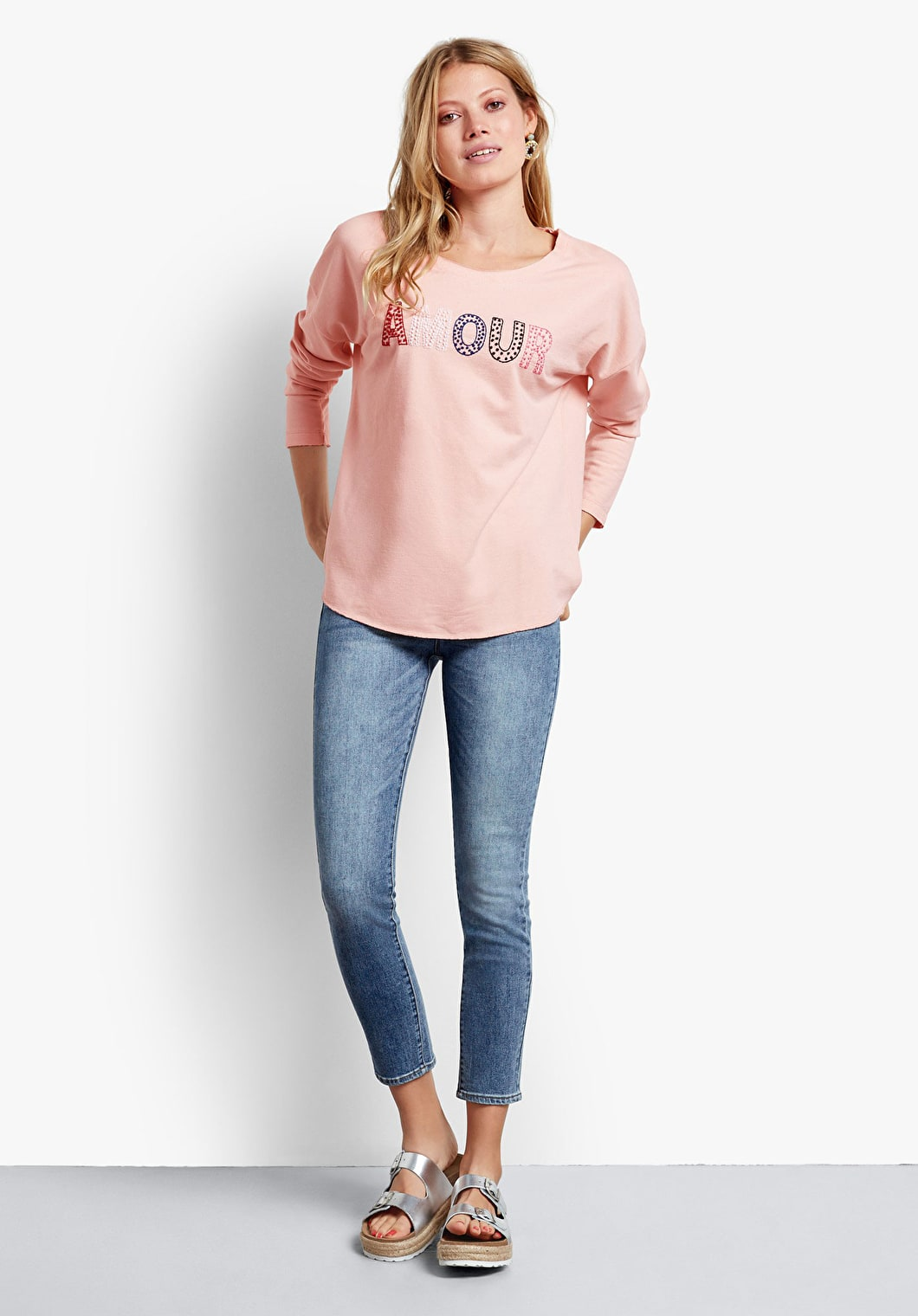 Embroidered L/S Amour Tee | hush