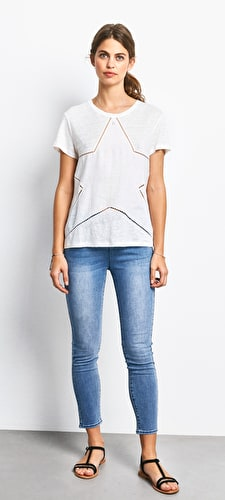 Linen Star Cut Out Tee