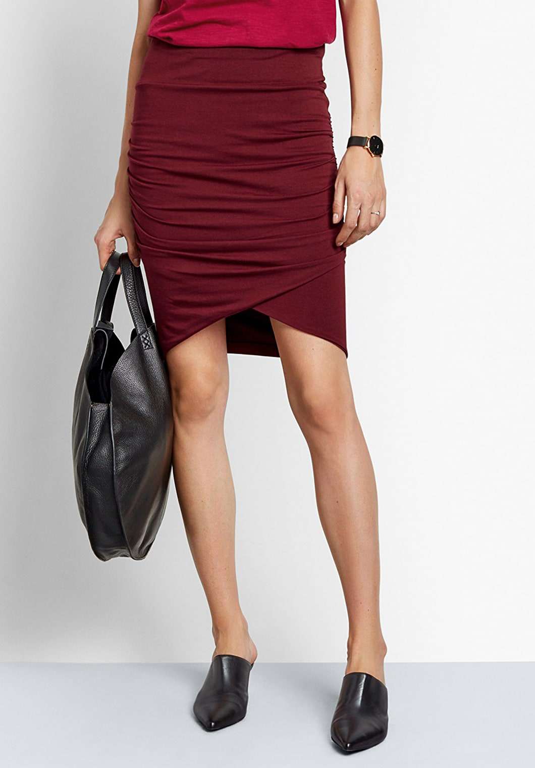 Jersey Crossover Skirt | hush
