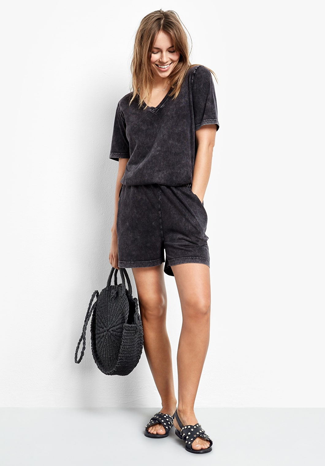 Washed Jersey Playsuit | hush