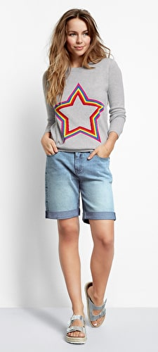 Stripe Star Jumper