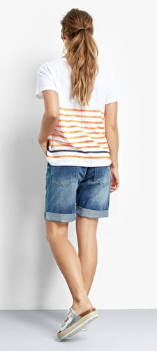 Boxy Striped Slub Tee