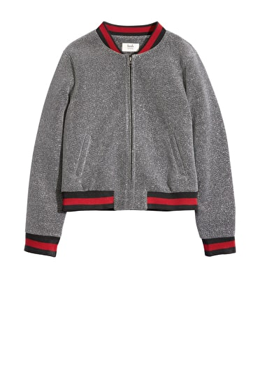 Lurex Ribbed Bomber