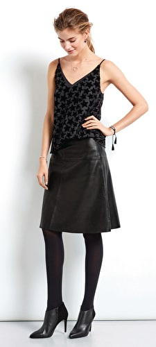 Riga Leather Skirt
