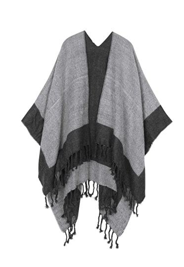 Two Tone Blanket Shawl