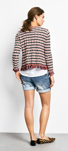 Striped Cara Knit Jacket