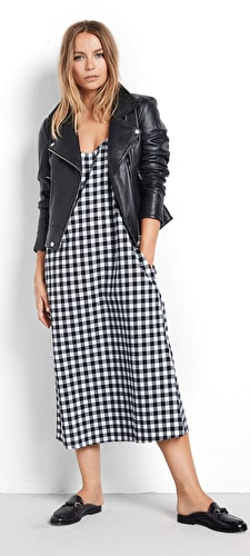 Flannel Slip Dress