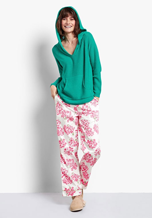 Hydrangea Piped Cotton Pj Trousers  d5fb14a7c1f1