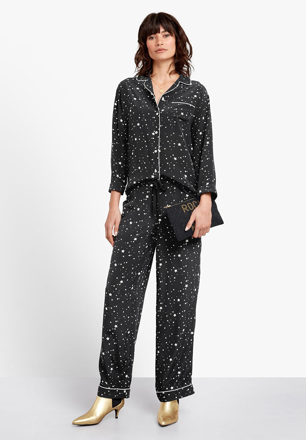Piped Silk Pyjamas | hush