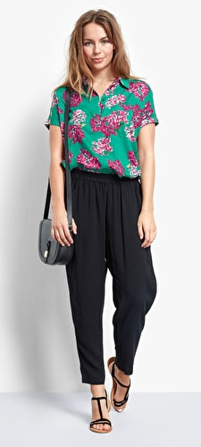 Cropped Relaxed Trousers