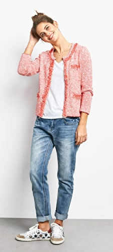 Cara Crop Knit Jacket