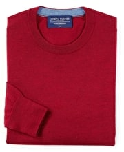 Merino Jumper - Crew Neck - Berry