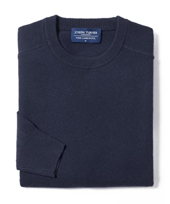 Lambswool Jumper - Crew Neck - Navy