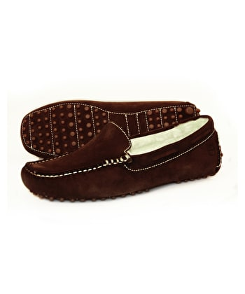 Mohawk Slipper - Chocolate Suede