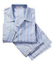 Pyjamas - Blue Stripe - Brushed Cotton