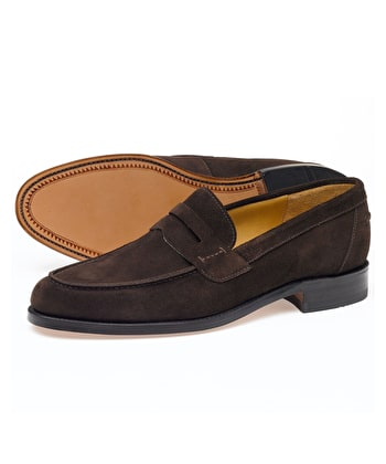 Saddle Loafer - Brown Suede