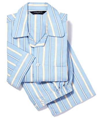 Pyjamas - Blue/Yellow Stripe (Brushed)