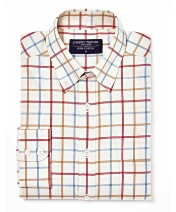 Leyburn Shirt - Red/Blue