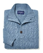 Donegal Cable - Button Neck