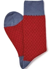 Diamond Knit Socks
