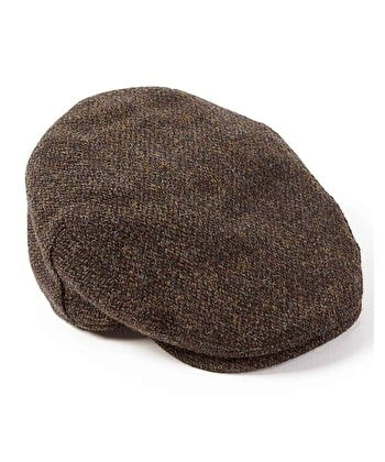 Harris Tweed Flat Cap - Brown Tweed