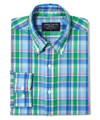 Madras Check - Blue/Green