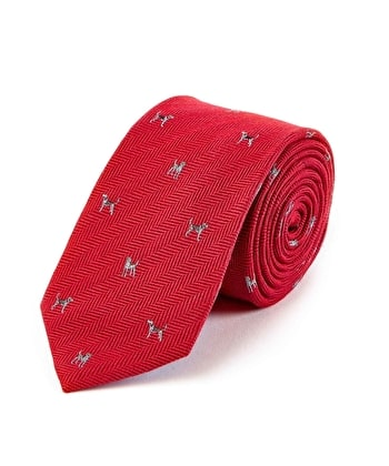 Hounds on Red - Wool/Silk Tie
