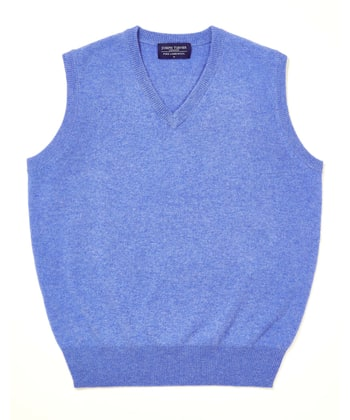 Lambswool - Slipover - Blue