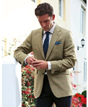 Lightweight Tweed Jacket - Gold/Coral Check