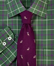 Green/Purple Country Check Shirt