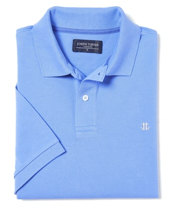 Pique Polo Shirt - Cornflower