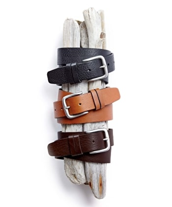 Casual Leather Belt - Black
