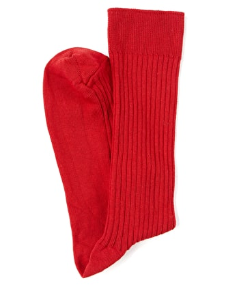 Combed Cotton Socks - Red
