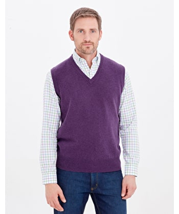 Lambswool - Slipover - Purple