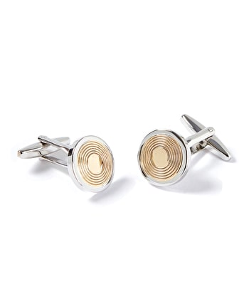 Gold/Silver Disc Cufflinks