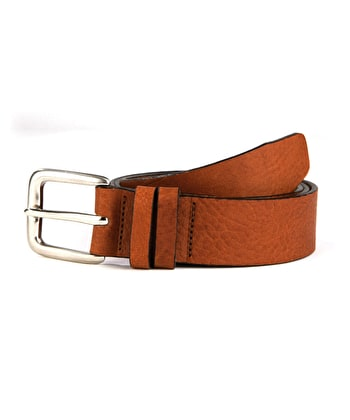 Casual Leather Belt - Tan