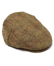 Harris Tweed Flat Cap - Olive