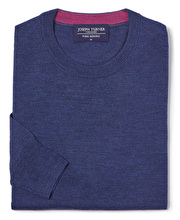 Merino Jumper - Crew Neck - Dark Blue