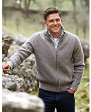 Lambswool Whitby Zip Cardigan